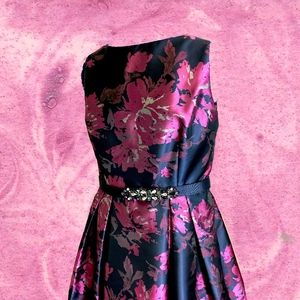 Eliza J. Floral Jacquard Dress